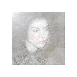 Mulher-Preto e branco Impressão Em Tela Canvas
