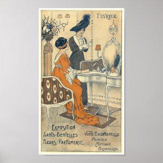 Mulheres 1900 elegantes de France da loja do Poster