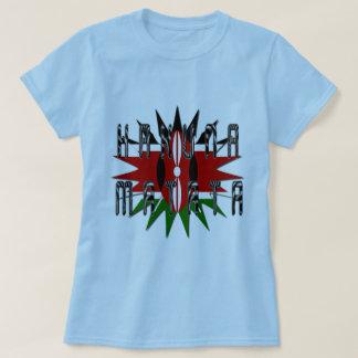 Mulheres à moda Jambo azul básico Kenya Hakuna T-shirt