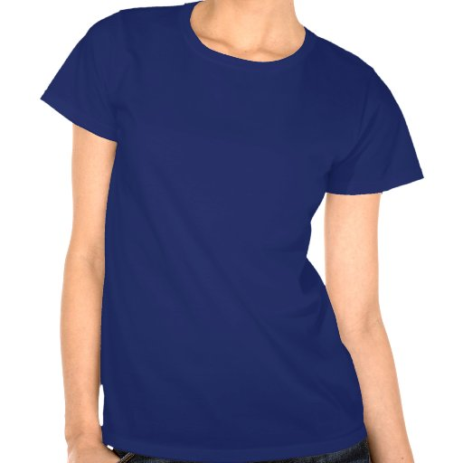 Mulheres azuis e ITALIA branco Camiseta