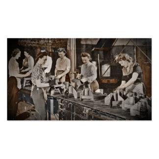 Mulheres de WWII na cadeia de fabricação Cartão De Visita