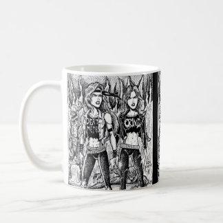 Mulheres do metal caneca de café