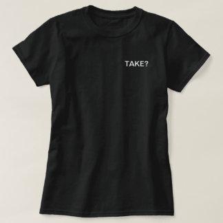 Mulheres do tshirt da tomada pretas