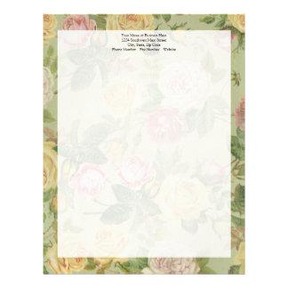 Mulheres florais resistidas país do vintage feitas papel timbrado