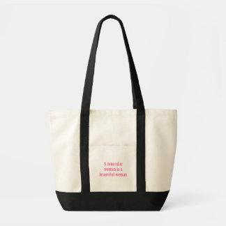 Mulheres pretas & saco cor-de-rosa do Gym Sacola Tote Impulse