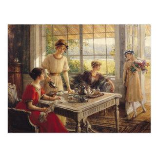 Mulheres que tomam o chá cartão postal