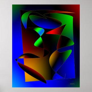 Multi arte abstracta da cor pôster