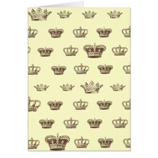 Multi design da coroa - escolha a cor do bkgd cartão