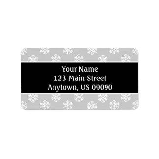 Multi etiquetas de endereço dos flocos de neve etiqueta de endereço