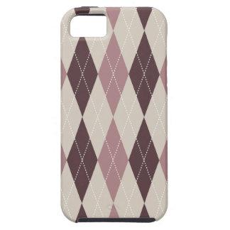 Multi na moda retro de Argyle Capa Para iPhone 5