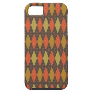 Multi na moda retro de Argyle Capa Tough Para iPhone 5