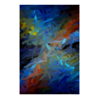 Multi pintura da arte abstracta das cores posters