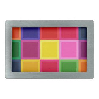 Multi quadrados e listras coloridos femininos