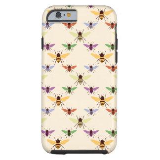 Multi teste padrão retro dos zangões das abelhas capa tough para iPhone 6