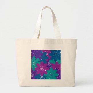 Multi verde azul roxo floral bolsa tote grande