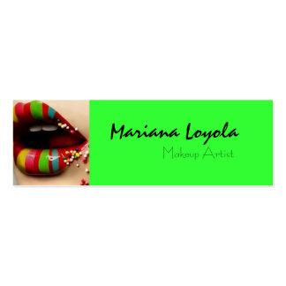 multicolor makeup cartão de visita skinny