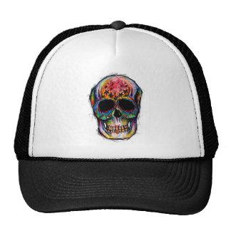 """multicolor morte"" Mexican Skull Boné"