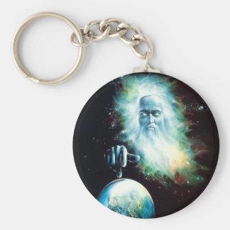 Mundo abstrato dos relógios de Zeus da fantasia Chaveiro