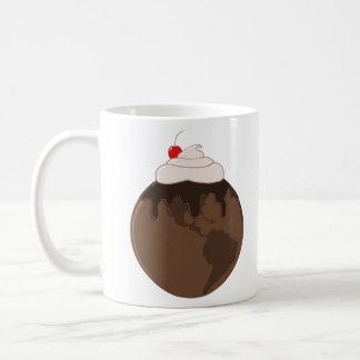 Mundo do chocolate caneca de café