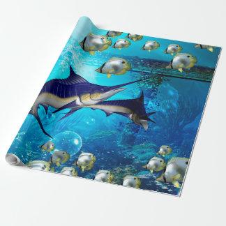 Mundo subaquático impressionante papel de presente