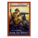 Munição! guerra mundial 1 do ~Vintage Poster