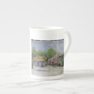 Murmura a estrada de ferro o mundo primeiro xícara de chá