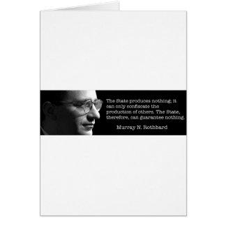 Murray Rothbard Cartão