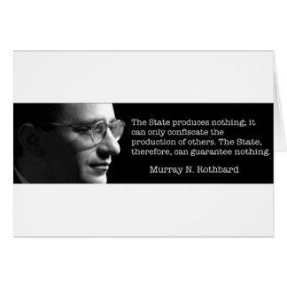 Murray Rothbard Cartão Comemorativo