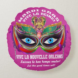 Musa & rainha do carnaval lidos sobre o design almofada redonda