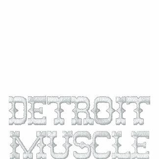 Músculo de Detroit (jaqueta) Agasalho Track De Lã Bordado