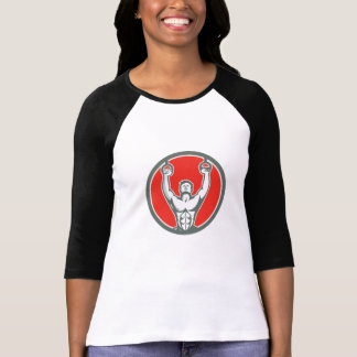 Músculo de Kipping acima do círculo do T-shirt