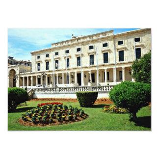 Museu da arte asiática, Corfu do palácio, flowe da Convite 12.7 X 17.78cm