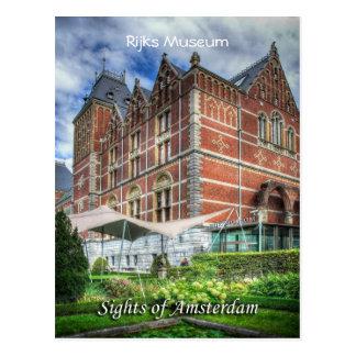 Museu de Reijks, vistas de Amsterdão Cartão Postal