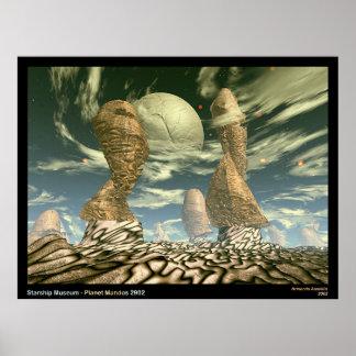Museu de Starship - planeta Mandos 2902 Posteres