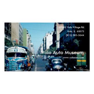 Museu do automóvel do vintage modelos cartao de visita