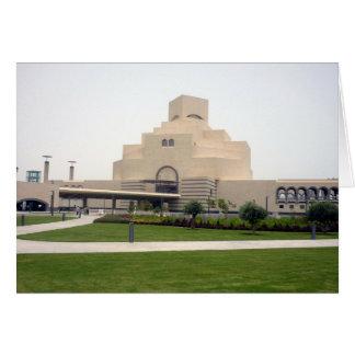 museu islâmico de doha cartão comemorativo