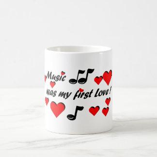 Music que my first Love Caneca De Café