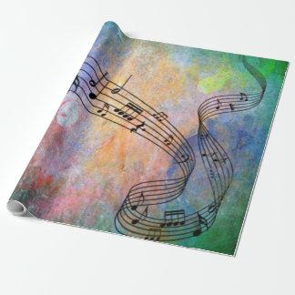 música abstrata papel de presente