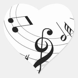 Música Adesivo Coração