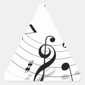 Música Adesivo Triangular