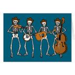 Música country que joga os esqueletos cartões