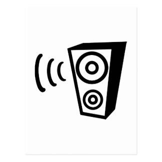Música da batida do auto-falante cartão postal