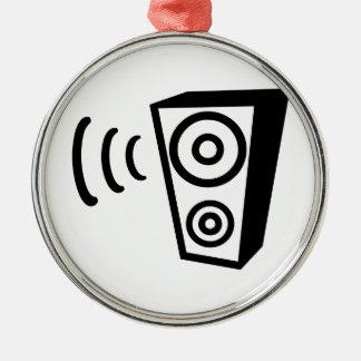 Música da batida do auto-falante ornamento redondo cor prata