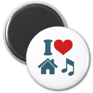 Música da casa do amor ímã redondo 5.08cm