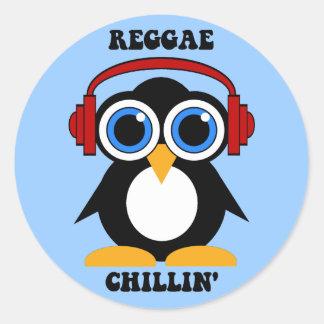 música da reggae adesivos em formato redondos