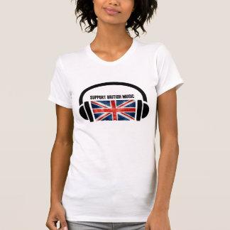 Música de Ingleses do apoio Camisetas