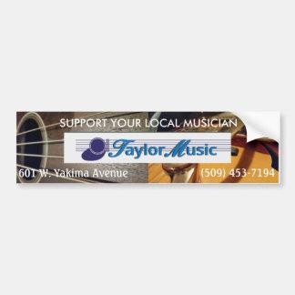 Música de Taylor - apoie seu músico local Adesivo Para Carro