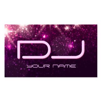 Música DJ - Brilho cor-de-rosa brilhante Cartão De Visita