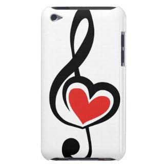 Música do amor do Clef da ilustração Capa Para iPod Touch