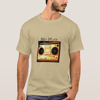 música do anos 80 camisetas